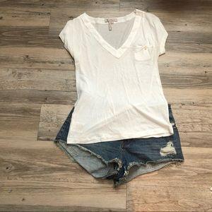 NEW. White BCBG designer T-shirt.
